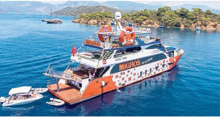 floating Migros shop